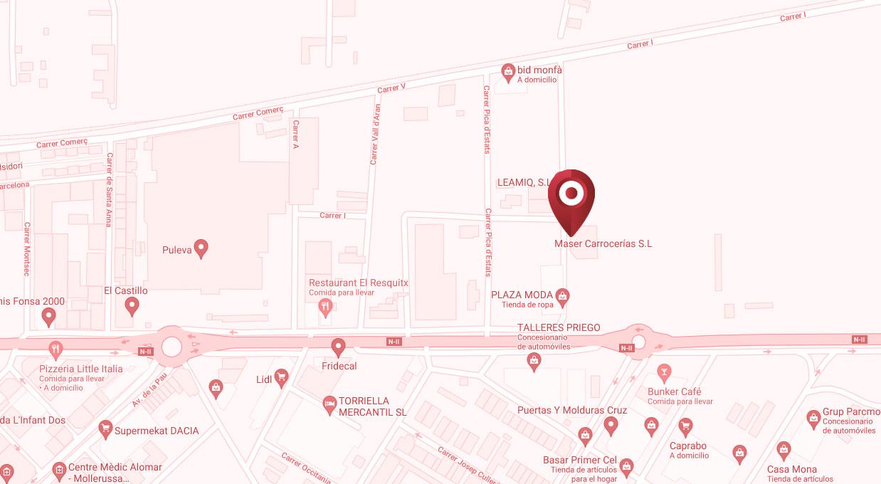 Mapa localización Maser